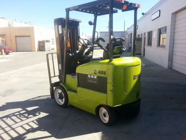 Used Clark 4 Wheel Electric Forklift