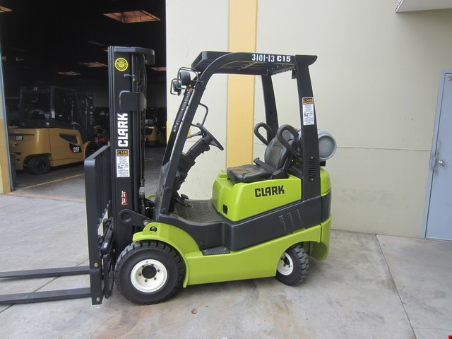 Used Clark Pneumatic Tire Forklift