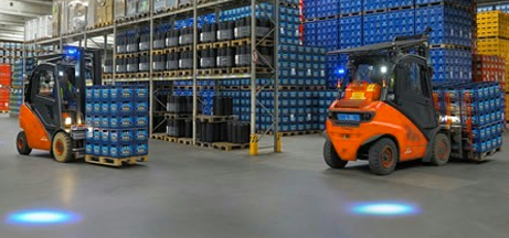 LED Blue Forklift Safety Light